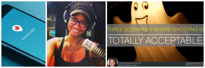 Ep.131 of The #Dating Advice Girl Radio Show NOW POSTED! 3 scenarios where #ghosting is ok!