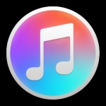 New itunes logo black