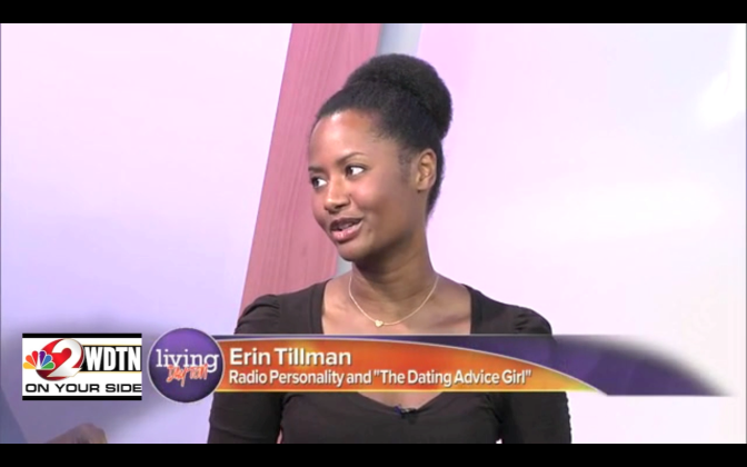 Giving dating tips on NBC affiliate WDTN's morning show 'Living Dayton'