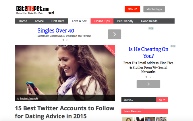Named one of the Top 15 Best Accounts For #Dating Advice on Twitter