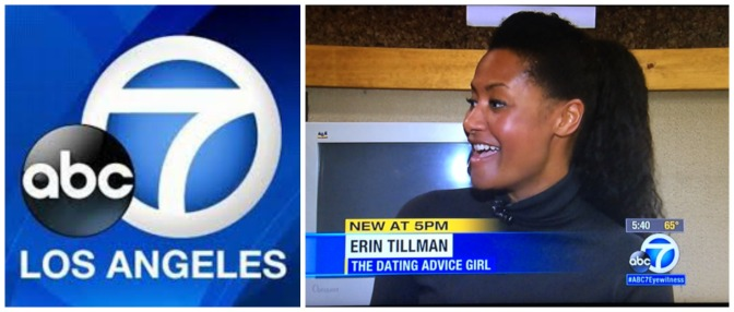 The Dating Advice Girl interviewed on @ABC7 about offering #dating advice on $5 website @Fiverr
