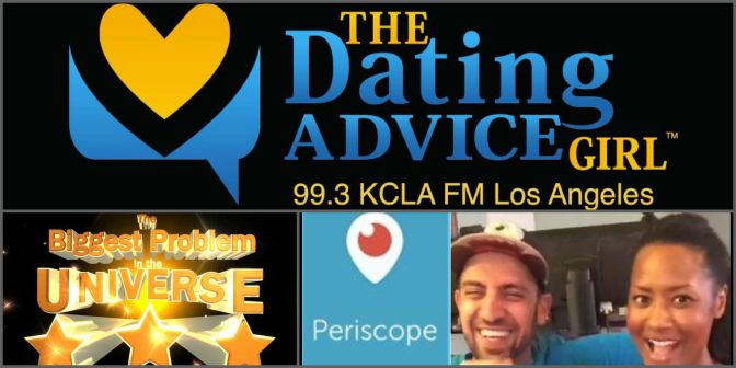 Ep.129 of The Dating Advice Girl Radio Show NOW POSTED! Talking #dating with @MaddoxRules from The Biggest Problem In The Universe podcast